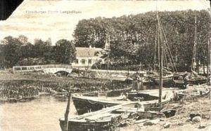 Langballigau v.1920 Haus & Fischerboote (16424)