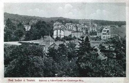Bad Soden v.1925 Bahnhof & Villenviertel.(2489A)