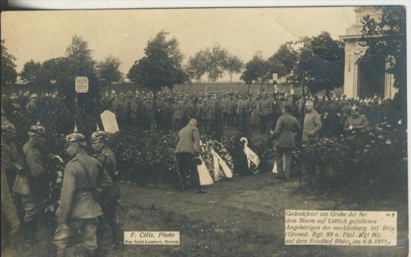Lüttich v. 1915  Gedenkfeier -- siehe beschr. !!  (1169-N)