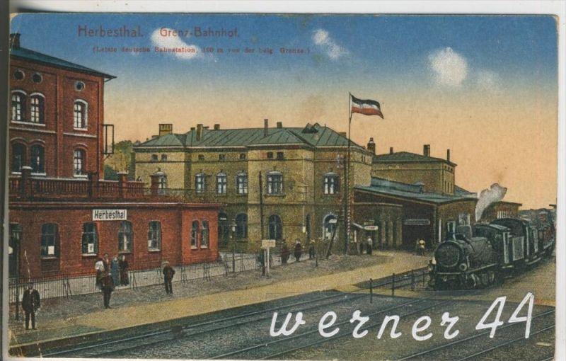 Herbesthal v.1915 Bahnhof & Zug (6754)