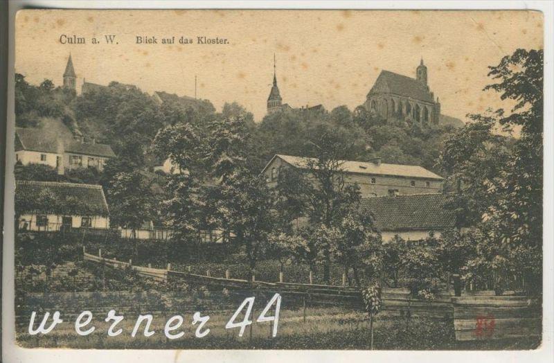 Culm v.1916  Dorfansicht mit Blick auf das Kloster (8604)