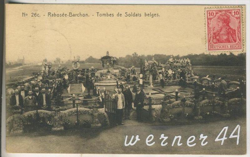 Rabosee-Barchon v.1916 Tombes de Soldats b elges  (10040)