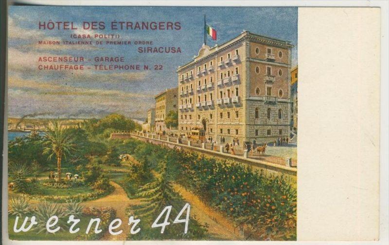 Siracusa v.1918 Hotes des Etrangers (12356)
