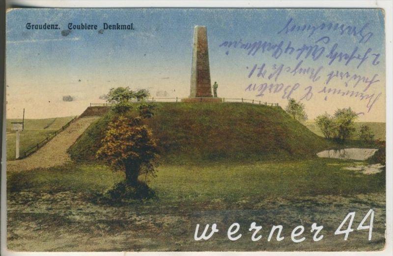 Graudenz v.1917  Das Coubiere Denkmal (13183)