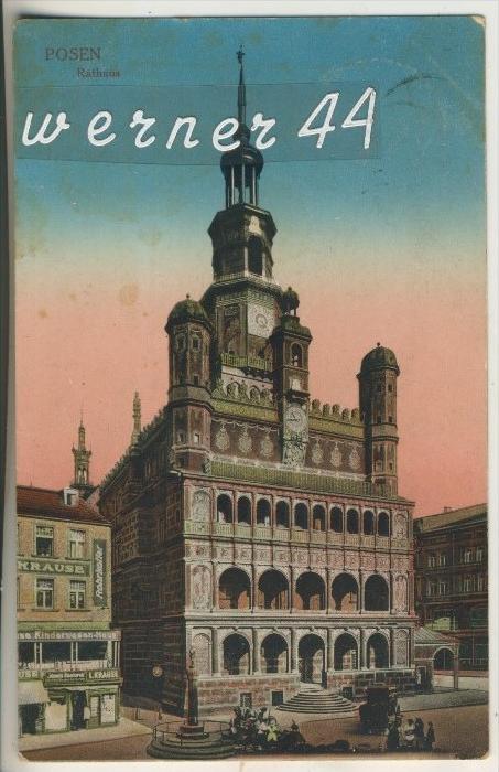 Posen v.1920 Das Rathaus (13262)