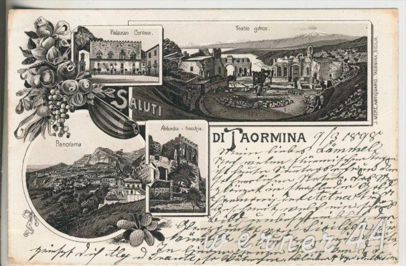 Di Taormina v.1898 4 Ansichten (18506)v.1898 4 Ansichten (18506)