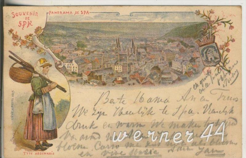SPA v. 1905  Stadtansicht mit Type Ardennais  (27048)