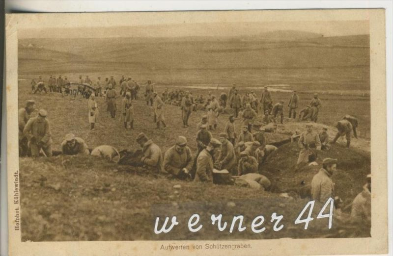 Aufwerfen von Schützengraben v. 1917 (24318-1)