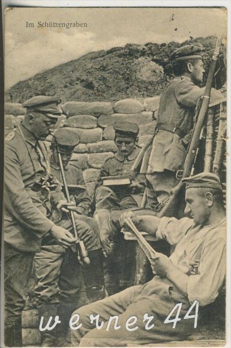 Das deutsche Heer im Felde v. 1917 Im Schützengraben (24319)