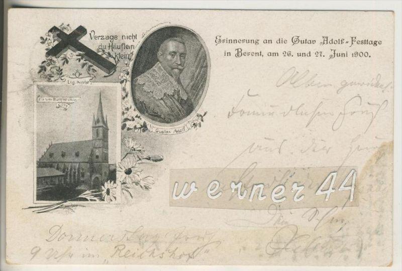 Berent v. 1900 Erinnerung an die Gutav Adolf Festtage (24769)