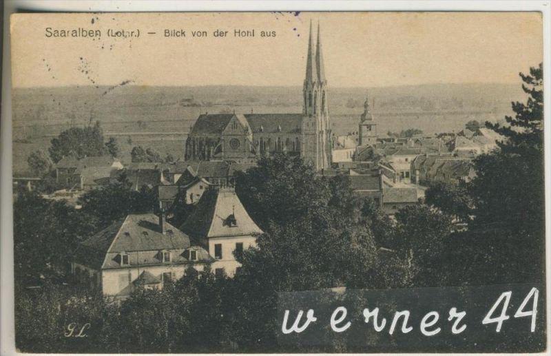 Saaralben v. 1918 Teil-Dorf-Ansicht  (26199-7)