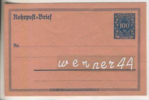Rohrpost=Brief mit Briefmarke Deutsches Reich 100 M. von 1922 ?  (46514)
