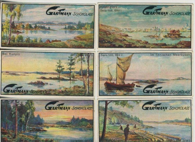 Altona v. 1923  C.H.L.Gartmann - Kakao und Schokoladen Fabrik -- Serie 588 Im Lande der tausend Seen1-6 komplett (46860)