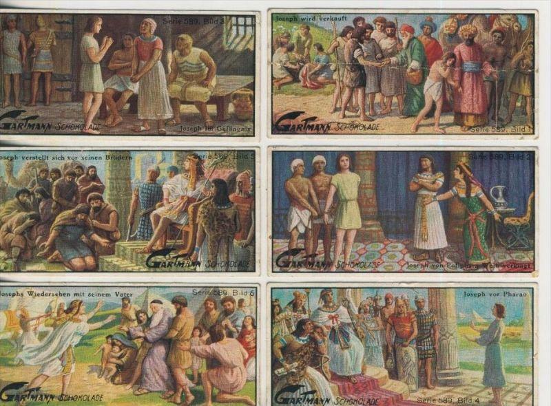 Altona v. 1923  C.H.L.Gartmann - Kakao und Schokoladen Fabrik -- Serie 589  Joseph und seine Brüder 1-6 komplett (46861)