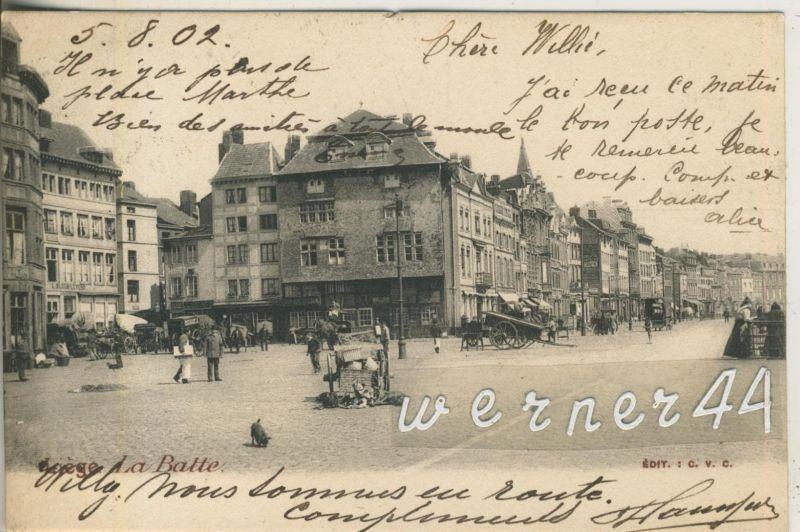 Liege v. 1902  La Batte,--Hotel`s,Pferdefuhrwerke,Handwagen  (47021)