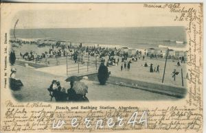 Aberdeen v. 1901  Beach and Bathing Statiob  (47073)