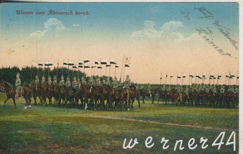 Saarburg / Lothringen v. 1915  Ulanen  zum Abmarsch bereit (47128)
