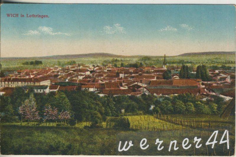 Wich in Lothringen v. 1916  Teil-Dorf-Ansicht  (47144)