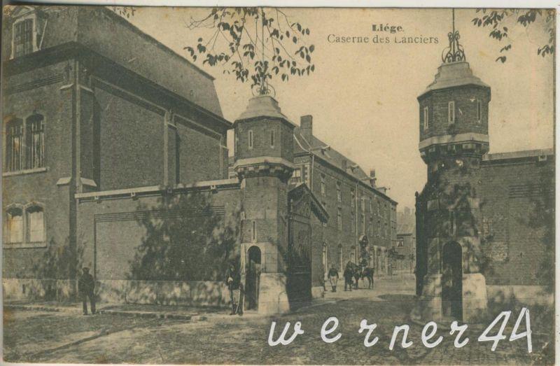 Liege = Lüttich v. 1912  Caserne des Lanciers  (47411)
