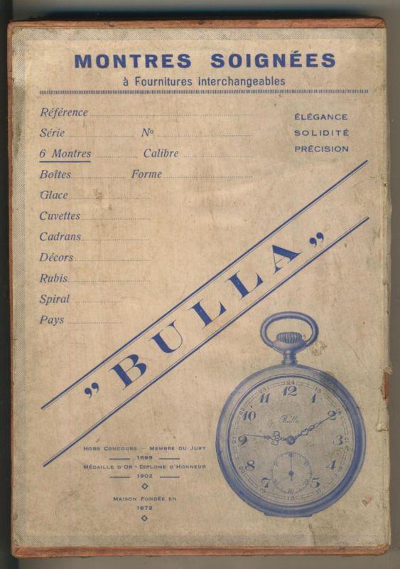 1 Kiste von Montres Soignees und 3 Nagelneue leere Uhrengehäuse   (1)