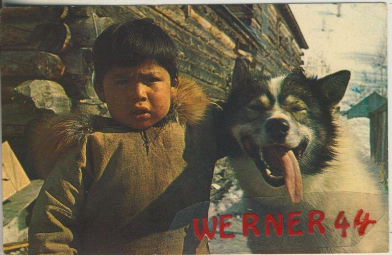 Anchorage v. 1969  An Eskimo boy`s best friend (48584)