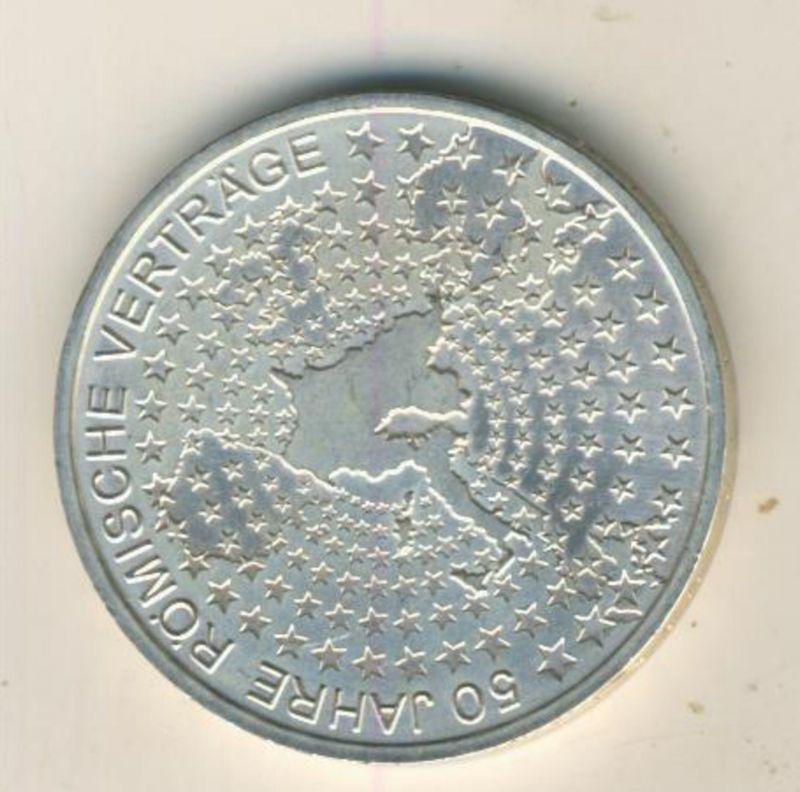 10 Euro Silbergedenkmünze 2007 50 Jahre Römische Verträge