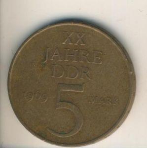 DDR v. 1969  5 Mark  (49009)