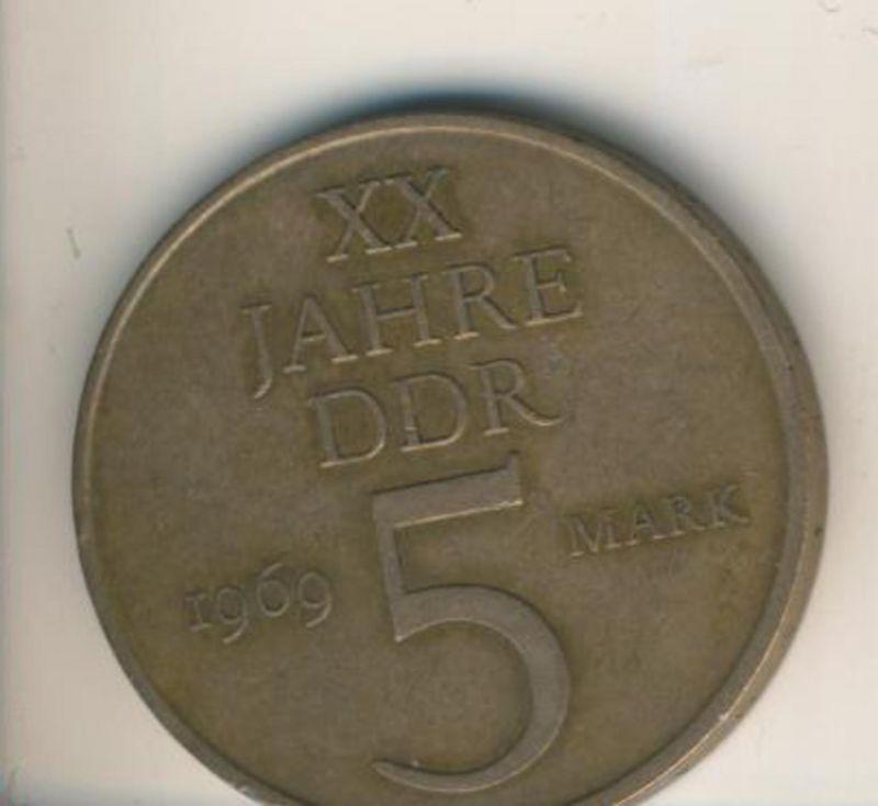DDR v. 1969  5 Mark  (49010)