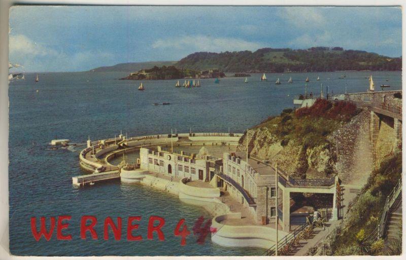 Drakes Island v. 1964  The Ligo swimming Pool and Drake`s Island, Plymouth  (49277)
