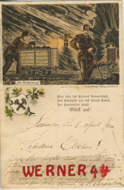 Settingen / Deutschland = Frankreich v. 1900  Bergbau - Die Förderung  (49579)