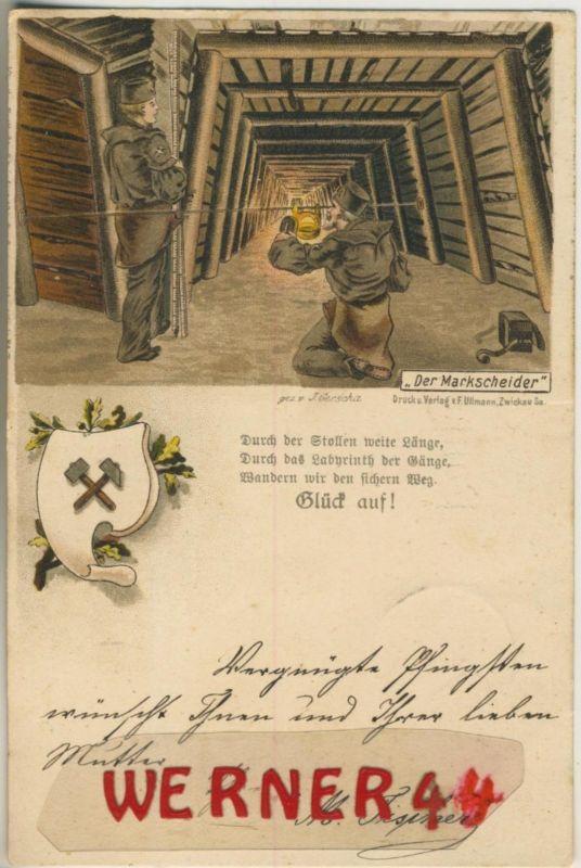 Settingen / Deutschland = Frankreich v. 1900  Bergbau -