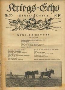 Kriegs-Echo von 9. April 1915 --- Nr.35  Ostern in Feindsland
