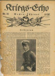 Kriegs-Echo von 16. April 1915 --- Nr.36  Heldentum