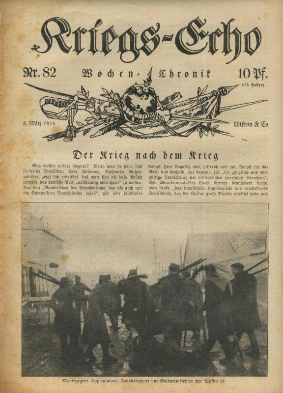 Kriegs-Echo von 3. März 1916 --- Nr.82 Der Krieg nach dem Krieg