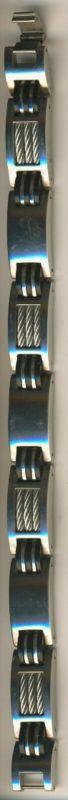 Herren-Armband aus Edelstahl in Silberfarbig und Schwarz  (Arm1)