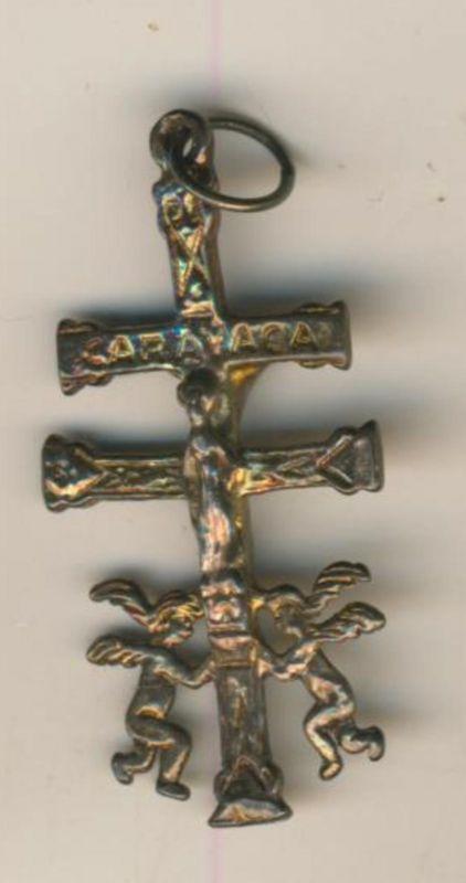 Caravaca-Kreuz / Doppelkreuz mit Engel  (Kreuz/ Engel 1)