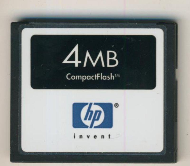 HP - Compact Flash Speicherkarte 4 MB Memory Card (MB)