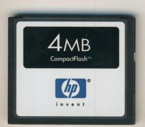 HP - Compact Flash Speicherkarte 4 MB Memory Card (MB)