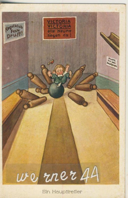 Kegeln v. 1923  Ein Haupttreffer  (50189)