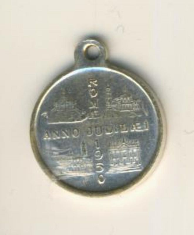 Vintage Religious Medal Pope Pius XII Pont Maximus - Vatican Pope Medal in Silber v. 1950 (50199-24)