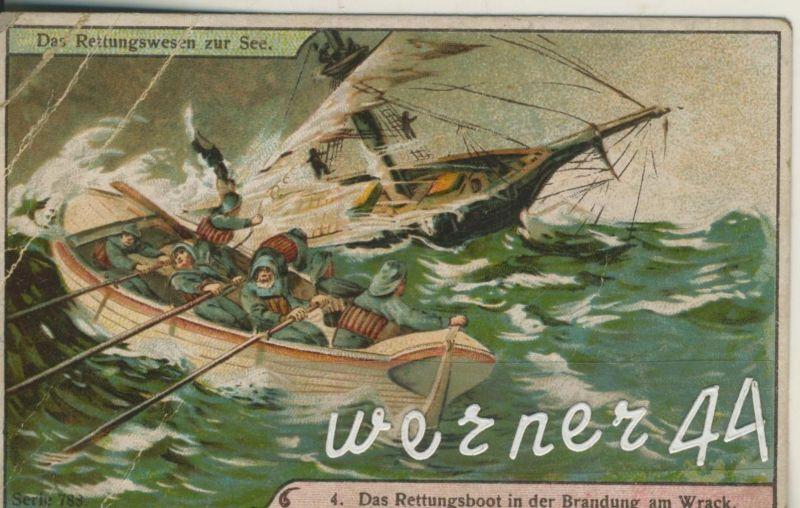 Max Görnemann (Görma) Lebensmittel-Feinkost -- Kaffee-Tee-Kakao -- Das Rettungswesen zur See (4) ca. v. 1928  (50399-42)