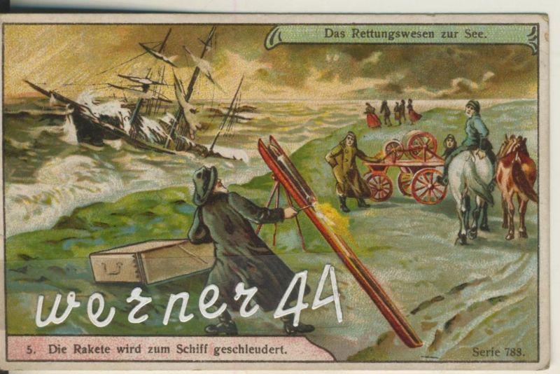 Max Görnemann (Görma) Lebensmittel-Feinkost -- Kaffee-Tee-Kakao -- Das Rettungswesen zur See (5) ca. v. 1928  (50399-43)