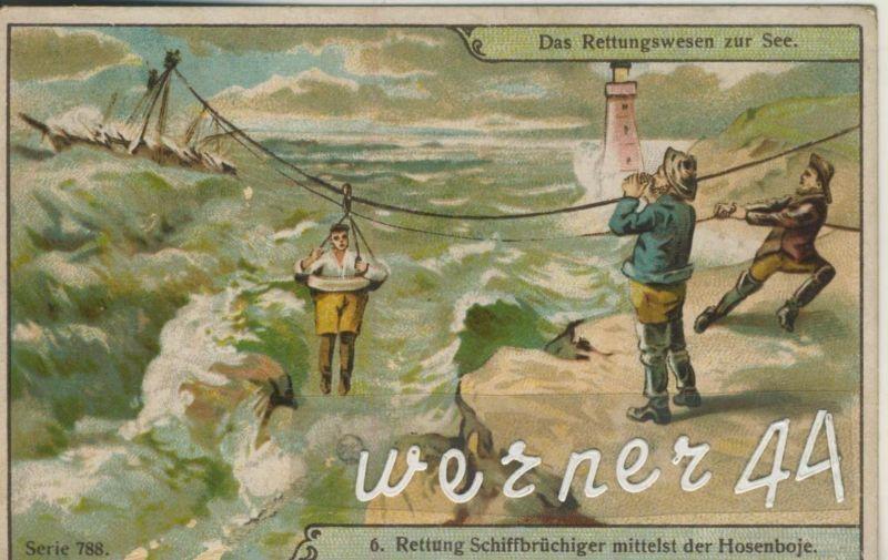 Max Görnemann (Görma) Lebensmittel-Feinkost -- Kaffee-Tee-Kakao -- Das Rettungswesen zur See (6) ca. v. 1928  (50399-44)