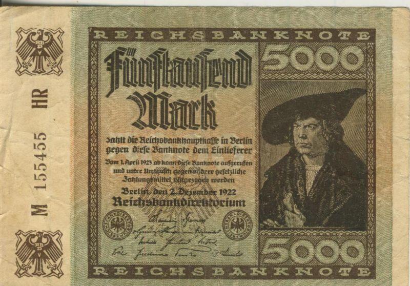 Berlin - Reichsbanknote -- 2. Dezember 1922   5000 Mark  (40021)