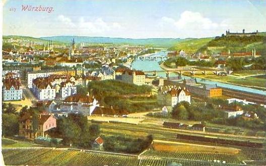Würzburg v.1918 Teil-Stadt-Ansicht (20832)
