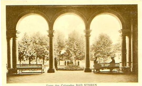Bad Steben v.1925 Unter den Colonaden (20842)