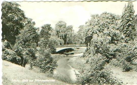 Erfurt v.1956 Blick Zur Pförtchenbrücke (20892)