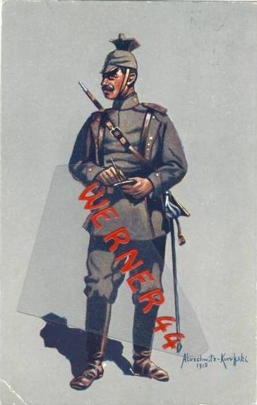 Wohlfahrtskarte v. 1916 Gefreiter des 1. (Bayr.) Ulanen - Reg.  (33330)