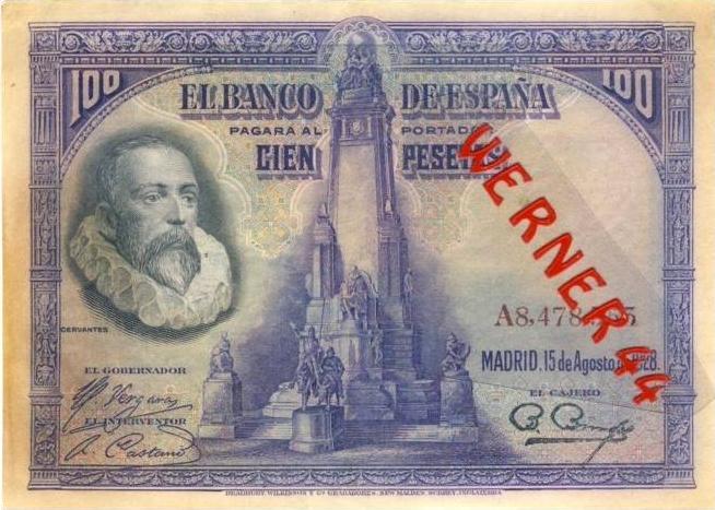 El Banco de Espana v. 1928 --- (100) Cien Pesetas  (0398)
