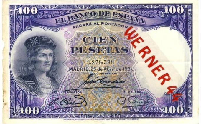 El Banco de Espana v. 1931 --- (100) Cien Pesetas  (0399)